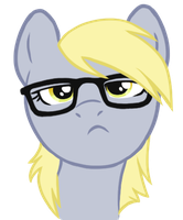 Hipster Derpy by Blackfeathr