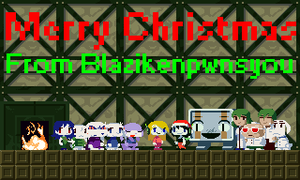 Cave Story christmas greeting by Blazikenpwnsyou
