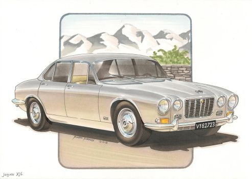 Jaguar XJ6 by DominikScherrer