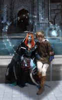 Link and Midna by Hyrule by kwills84