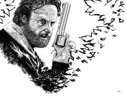 Andrew Lincoln as Rick Grimes Inking by Divem