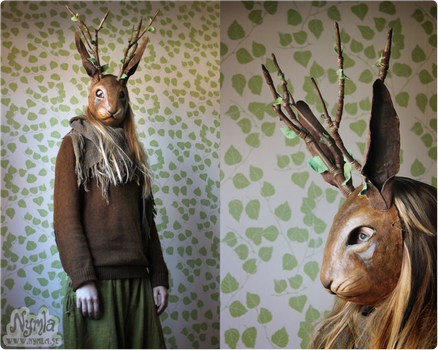 Jackalope Mask #3 (for sale on Etsy) by Nymla