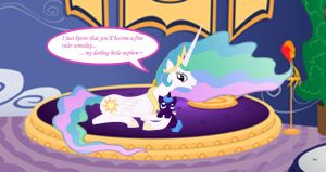 Rigel and his Auntie Celestia by Dandric101