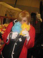 Cosplay- Cute Al and his Kitty by MangaX3me