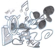 Steamboat Willie by EeyorbStudios