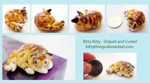 Bitty Kitty - Striped and Curled by Bittythings