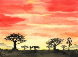 The Lonely Rider Walks Home by GoldeenHerself