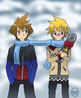 Sora and Roxas for RSR-chan by Ririkaze