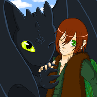 Toothless and Hiccup by ocelot-girl