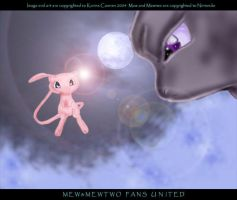 Mew and Mewtwo by mew-mewtwo