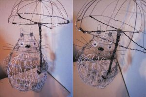 Totoro wire sculpture by twillis