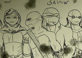 TMNT - Sainw by KameBoxer
