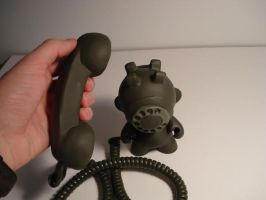 Rotary Phone Munny Custom by gagum
