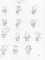 Organization XIII Chibis by Deoxys413