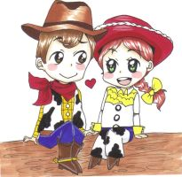 Woody and Jessie by rikuness