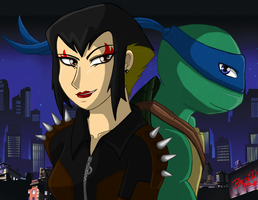 Karai and Leonardo by Mysterious-D