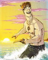 Days At the Beach: Frisbee by Kilo-Monster