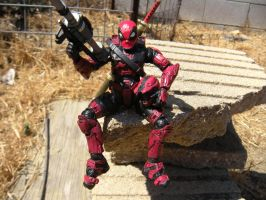 Custom Painted Deadpool/Spartan by PokepictureFigurefun