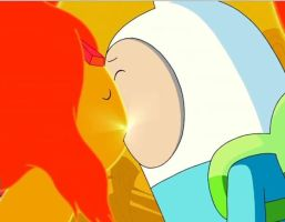 Adventure Time Finn x Flame (spoils) by YumiFireFox