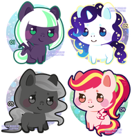 mini pony adopts [open! 1/4] by Miss-Glitter
