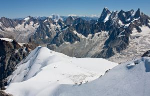 Hikers ,Peaks and Glaciers by bongaloid