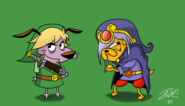 Courage and Jake by mabusxx