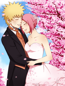 NaruSaku Wedding by ichan-desu