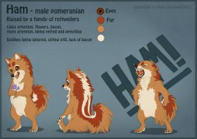 Ham the Pomeranian by Shadow-Wolf
