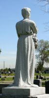 Mount Olivet Cemetery Woman 175 by Falln-Stock