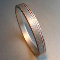 Copper and Steel Bangle by Spexton
