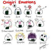 Onigiri Emotions by pwnapple14