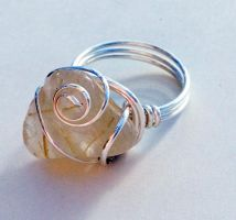 Size 7 Rutilated Quartz Wire-Wrapped Ring by FaerieForgeDesign