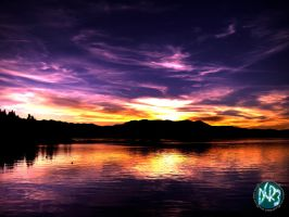 sunset one hdr by DCRIII