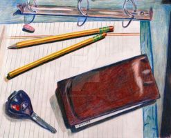 Colored pencil still life by cleverquandary