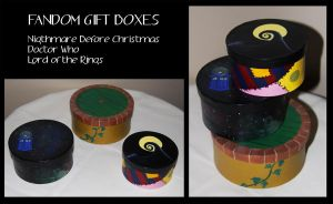 Fandom Gift Boxes by FangsAndNeedles
