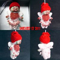 Zombie Angel ornament by Undead-Art