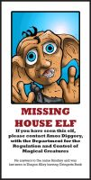 Missing House Elf by Pencilbags
