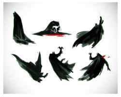 Batman Gesture warmups by Beastysakura