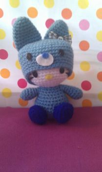 Hello kitty amigurumi blue by phampyk
