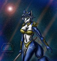 Request: Dat blue vixen by Snowfyre