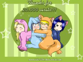 naruto animals: 20.000 visit by nennisita1234