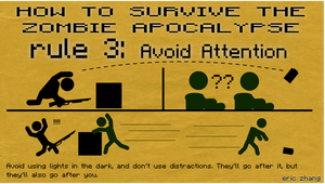How to Survive the Zombie Apocalypse: Rule 3 by Number9Robotic