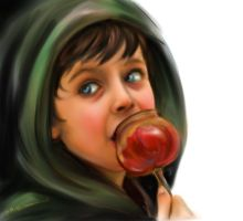 Mordred and the Caramel Apple by RuneWolfe