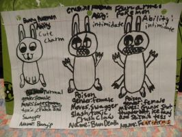 Fakeamon: Bunyip, BunDeath and Four-Arms by Bowser14456
