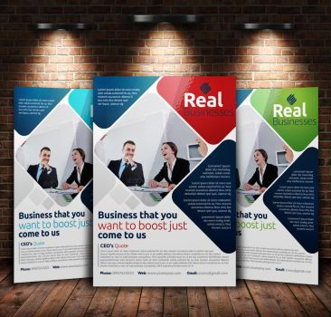Business A4 Flyer Template by Designhub719