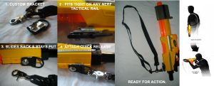 HvZ NERF 1 Point Tactical Harness by MarcWF