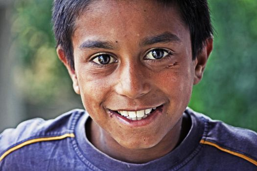 Beautiful Smiled Romany Kid by dincturk