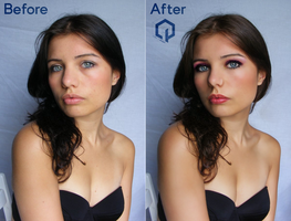 Before and After Retouch 3 + Photoshop CC by almostlovers-forever