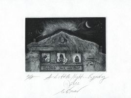 A Little Night ... Engraving by mgruev