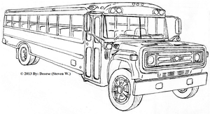 School Bus Lineart (Unedited) by Deorse